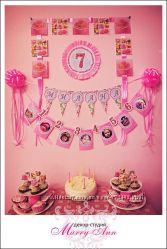 Оформление детского праздника Sweet Princess party