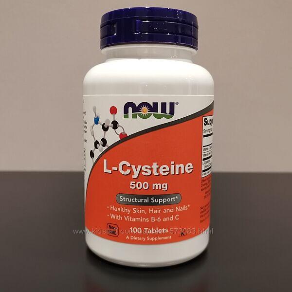 NOW L-Cysteine цистеин 500 мг - В6 и витамин С - 100 таблеток / США