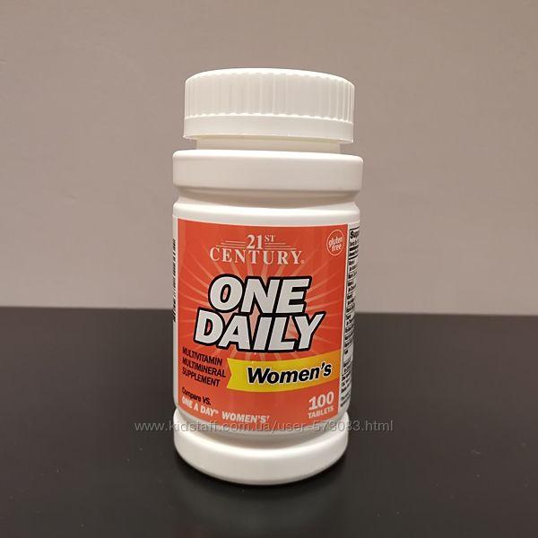 Мультивитамины для женщин One Daily 21 Century - США