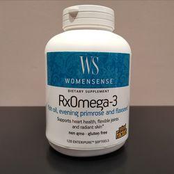 Рыбий жир Омега 3 для женщин RxOmega 3 - льняное и примулы Natural Factors