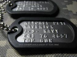 Армейские жетоны с тиснением текста -лучший подарок для мужчин