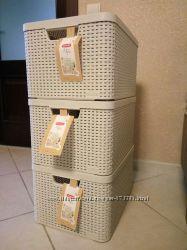 Корзины CURVER 30л. молочный для хранения вещей, игрушек, обуви
