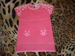 Красивое и удобное трикотажное платье Next на 2-4 годика