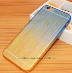 Мерцающие cиликоновые чехлы iphone 6 6S