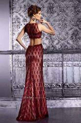 Шикарное новое вечернее платье со шлейфом
