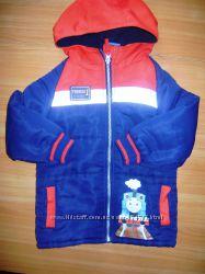 Красивая курточка с паравозиком ТОМАС
