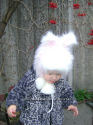 Красивая шапочка Зайчик