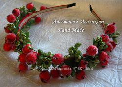 Яркие летние обручи  цветами и ягодками