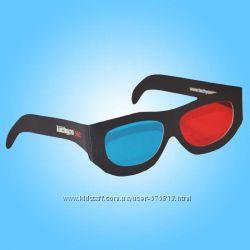 Анаглифные картонные красно-синие 3D очки 3Д
