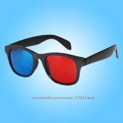 Анаглифные пластиковые красно-синие 3D очки 3Д
