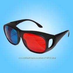 Анаглифные пластиковые красно-синие 3D очки 3Д Люкс