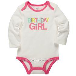 Бодик для именницы Carters Birthday Girl 12M
