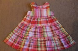 Летние платья Faded Glory 24M органический хлопок розовое желтое