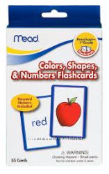 Карточки для обучения английскому Mead Colors, Shapes, & Numbers Flashcards