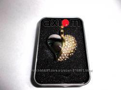 ЮСБ Флешка в виде сердца с кристаллами Сваровски 4Гб USB Flash