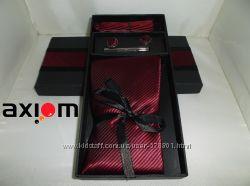 Подарочный набор для мужчин галстук, запонки и зажим с платком - паше
