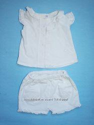 Летний комплект туничка и шорты размер 62