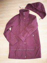 Бордовая куртка с подстежкой 2 в 1 можно на животик