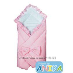 Конверт-одеяльце на выписку из роддома с бантом  розовый  Anikababy