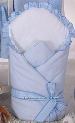 Конверт-одеяло для выписки из роддома Milpol голубой