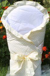 Конверт-одеяло для выписки из роддома детей Milpol  бежевый