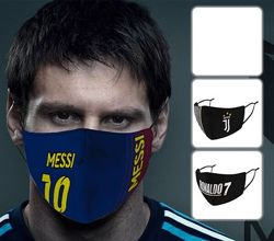 Многоразовая маска на лицо Ювентус Роналдо 7 Месси Барселона Манчестер Сити