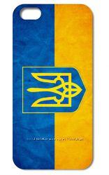 Патриотические чехлы для Iphone 4 и 4s или Iphone 5 и 5s с флагом Украины.