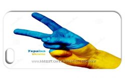 Чехол Украина Victory Победа для iPhone 5 и 5s с знаком Peace