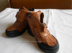 Кожаные демисезонные ботинки Ralph Lauren