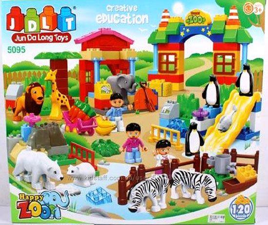 Конструктор для малышей Зоопарк JDLT 5095 , 120 крупных деталей