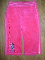 Велюровые штанишки с минни 9-12 мес.