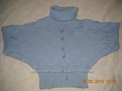 Теплый свитер летучая мышь без рукавов