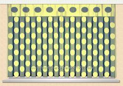 ниточная штора для кухни шарики