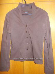 Женская блуза коричневого цвета 44 - 46 размера