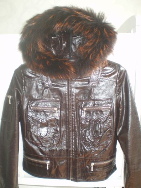 Новая стильная куртка из кожи телёнка