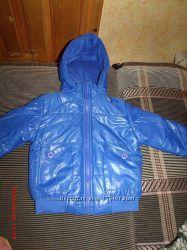 Куртка темно-голубая, на флисе осень