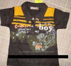 С крупным принтом футболка для мальчика