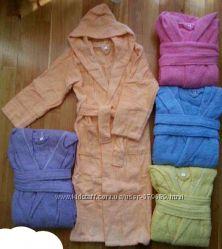 детский махровый банный халат 100 хлопок. отличное качество. от 4 до 16 лет