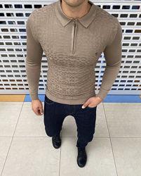 Скидки. Мужские брендовые свитера с воротничком, поло Billionaire. Zilly