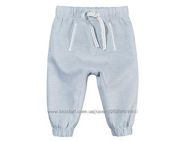 Удобные льняные, летние штанишки от немецкого бренда Lupilu