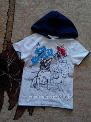 Фирменные футболочки на сыночка на 5-7 лет
