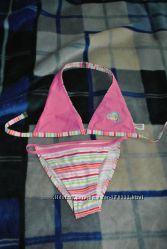 Красивый купальник треугольничками для подростка или худенькой женщины