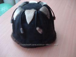 Продам шапку со вставками нерпы из цигейки