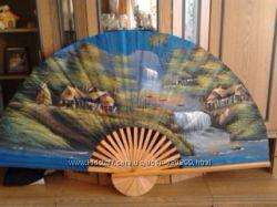 тайский веер-картина