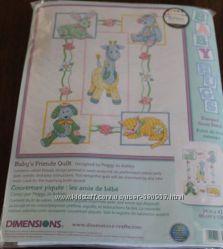 Набор для вышивки детского одеяла Dimensions Hugs Babys Friends
