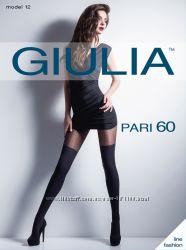 Колготки с рисунком Giulia c имитацией чулок.