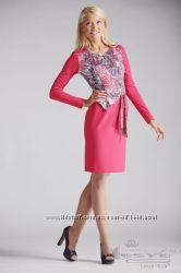 Красивое платье розового цвета. Размер 48