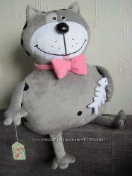 Мягкая игрушка-подушка кот Бонус ручная работа