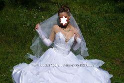 Срочно Красивое оригинальное свадебное платье