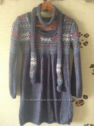 Шикарное вязаное платье - туника .